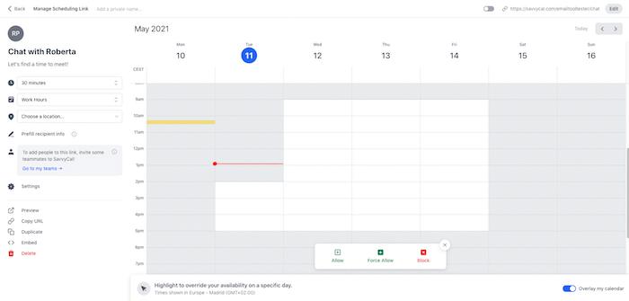 savvycal scheduling calendar