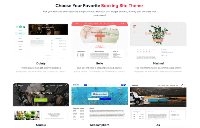simplybookme website templates