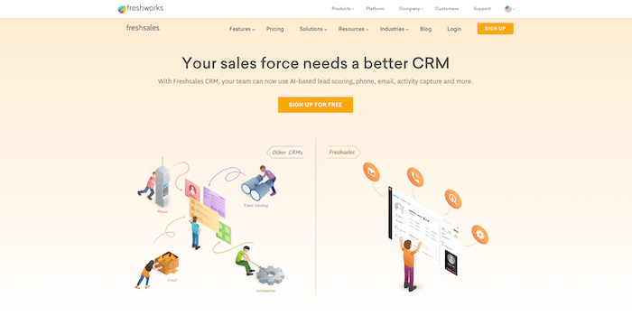 freshsales crm profile