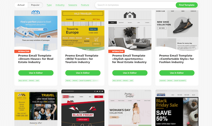 Stripo email templates