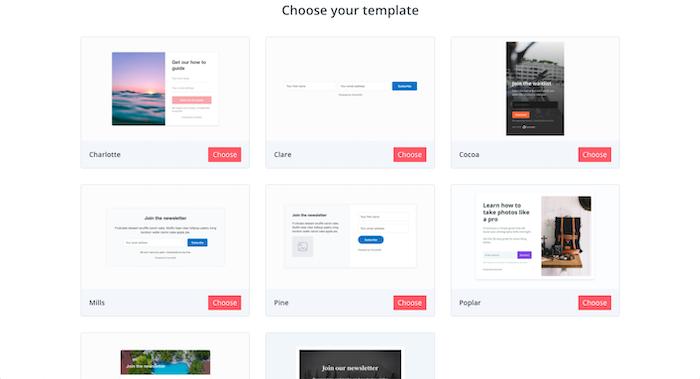 convertkit form templates
