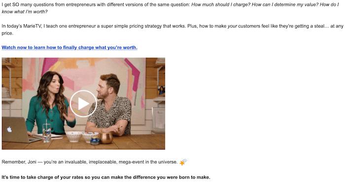 plain-text newsletter example