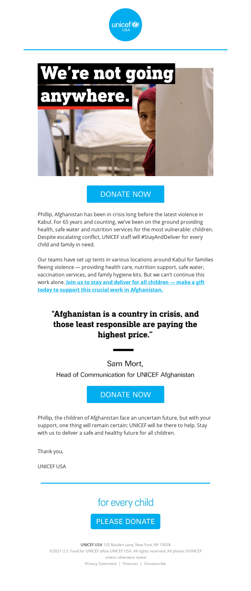 unicef email